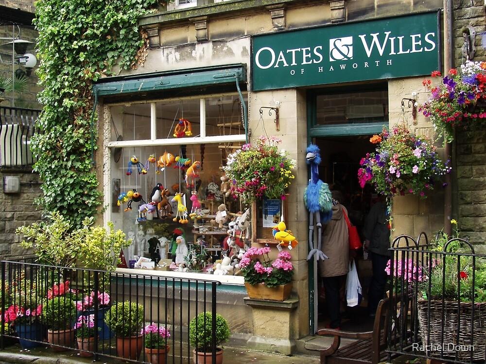 Shop window in Haworth by Rachel Down