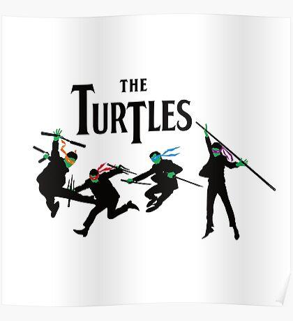 Teenage Mutant Ninja Beatles Poster