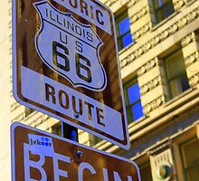 Historic Route 66 begins by CliveHarris