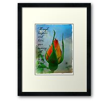 """I Will Remember You"" Framed Print"