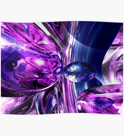 Tranquil Sedative Abstract Poster