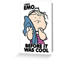 Linus Emo Peanuts Greeting Card