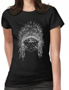 Chief Kitty - White Womens Fitted T-Shirt