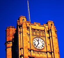 Clock Tower at Melbourne Uni by emilysansom