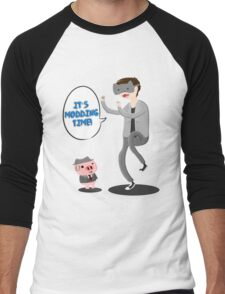 "'It's Modding Time!"" T-shirt/Sticker Men's Baseball ¾ T-Shirt"