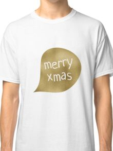 Gold Foil Merry Xmas and Confetti Classic T-Shirt