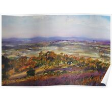 View from Pokolbin Mountain, Hunter Valley NSW Poster