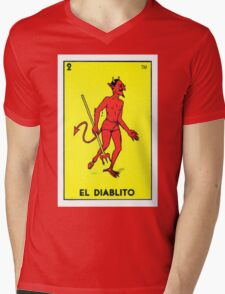 El diablito  Mens V-Neck T-Shirt