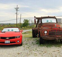 Mater & Lightning McQueen, Galena, Ks by CliveHarris