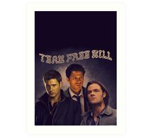 Team Free Will Art Print