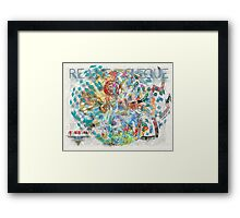 Reality Cheque Framed Print