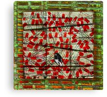 Bird on Wire Canvas Print