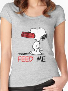 Hungry Snoopy Women's Fitted Scoop T-Shirt