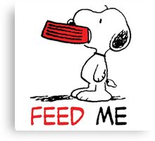 Hungry Snoopy Canvas Print