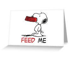 Hungry Snoopy Greeting Card
