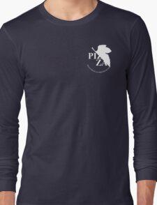 Pizzavangelion Team Shirt Corporate White Long Sleeve T-Shirt