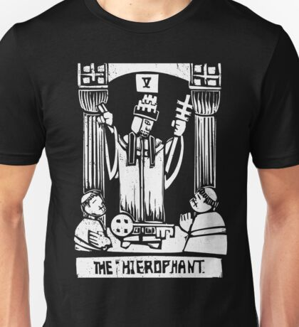 The Hierophant  - Tarot Cards - Major Arcana Unisex T-Shirt