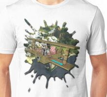 Flying a Plane with Porkchop T-Shirt/Sticker Unisex T-Shirt