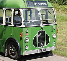 Excursion  Vintage Coach Walberswick Suffolk by AndyLanhamArt