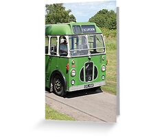 Excursion  Vintage Coach Walberswick Suffolk Greeting Card
