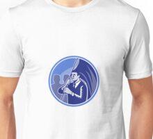 Businessman Flag Bearer Retro Unisex T-Shirt