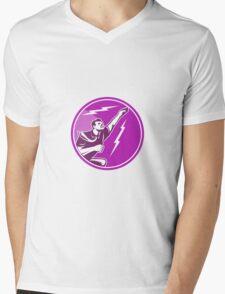 Businessman Rebounding Flying Up Mens V-Neck T-Shirt