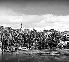 CITYSCAPE on the Tiber River by orsinico