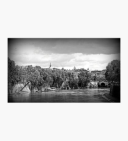CITYSCAPE on the Tiber River Photographic Print
