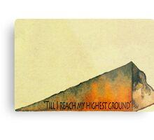 Higher Ground Metal Print