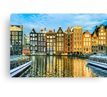 Amsterdam In Gold Canvas Print