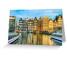 Amsterdam In Gold Greeting Card