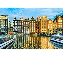 Amsterdam In Gold Photographic Print