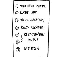 Scott's list by Joe Hickson