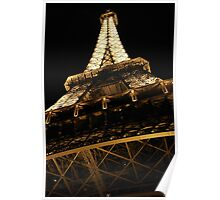 Under the Iron Lady-copyright Tour Eiffel-illustrated by theSmileEffect Poster