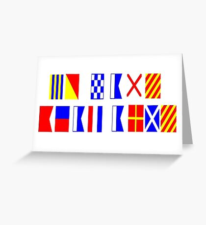 Go Navy, Beat Army in Signal Flags Greeting Card