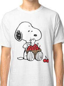 Snoopy Eats Cherry Classic T-Shirt