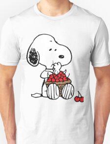 Snoopy Eats Cherry Unisex T-Shirt