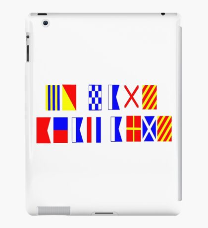 Go Navy, Beat Army in Signal Flags iPad Case/Skin