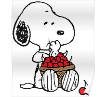 Snoopy Eats Cherry Poster