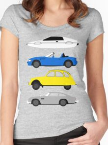 The Car's The Star: James Bond Women's Fitted Scoop T-Shirt
