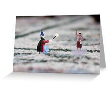 The hat, cape and wand do not make you a magician Thomas, and you have NOT discovered Instagram! Greeting Card