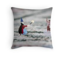 The hat, cape and wand do not make you a magician Thomas, and you have NOT discovered Instagram! Throw Pillow