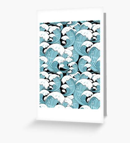 pattern of sea waves Greeting Card