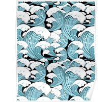 pattern of sea waves Poster