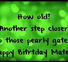 How old? birthday card by Nicola jayne