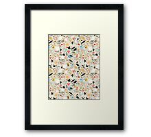 pattern of funny birds Framed Print
