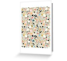 pattern of funny birds Greeting Card