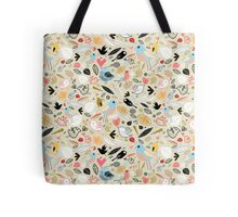 pattern of funny birds Tote Bag
