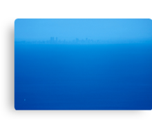blue across the bay Canvas Print