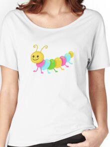 Cute cartoon caterpillar centipede Women's Relaxed Fit T-Shirt